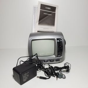"""Coby Other - Coby 5"""" Portable Black & white TV with Radio"""